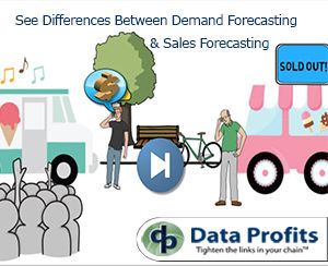 See Differences Between Demand Forecasting and Sales Forecasting for Inventory Replenishment